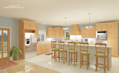 American Casual  Kitchen Rendering