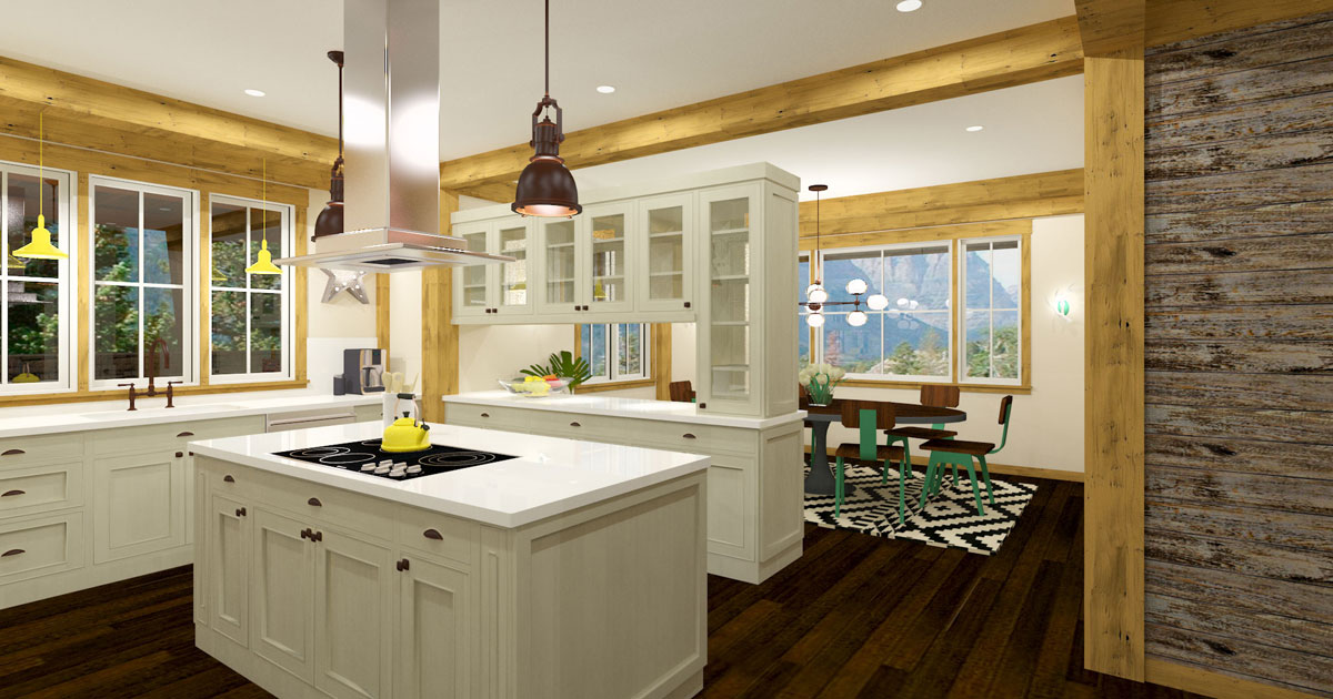 Timber Frame Kitchen 3 Ray Trace