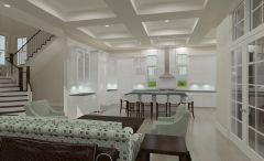 Kitchen Living Room Rendering