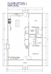 1 Option 1 - Floorplan