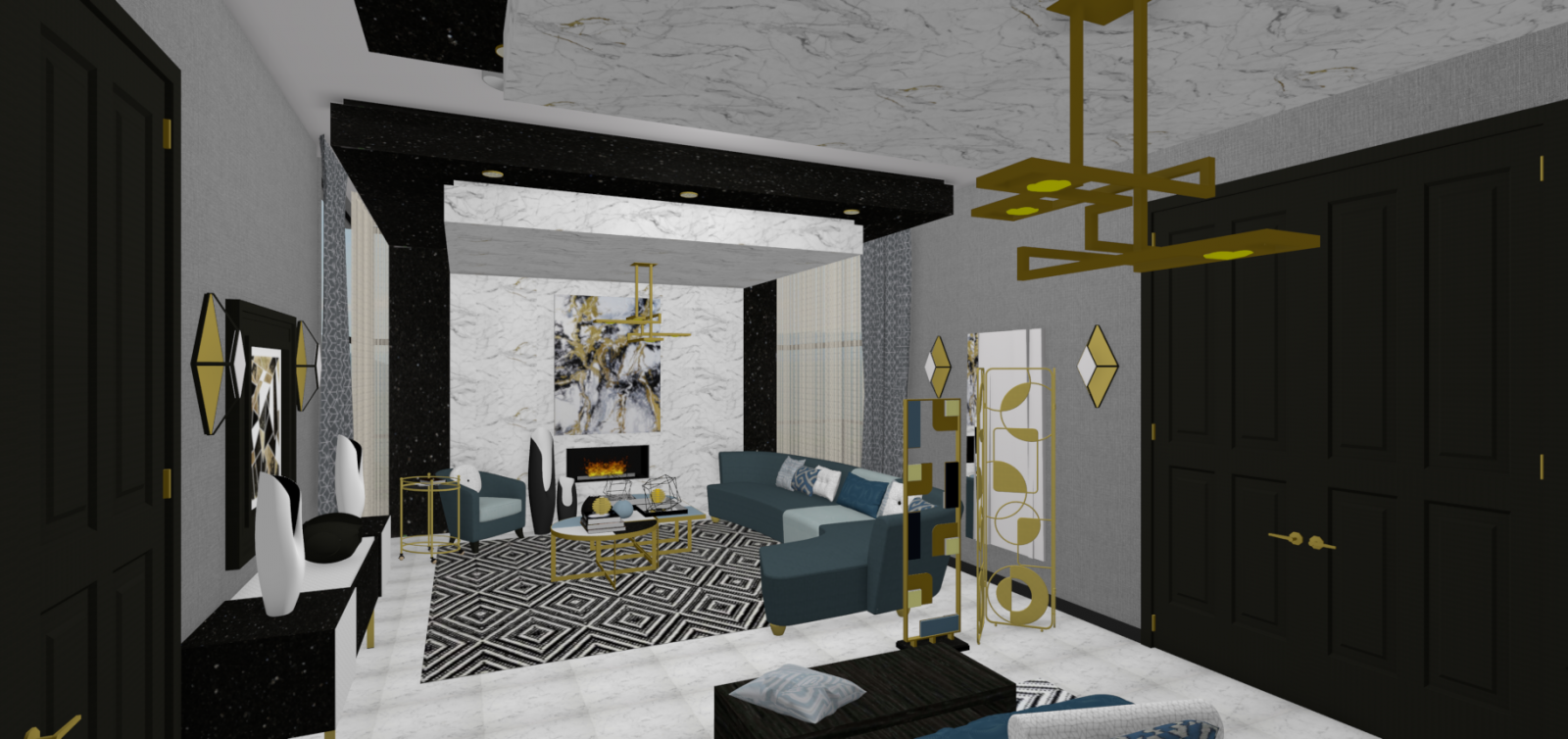 Master Bedroom With Private Lounge - Preliminary Design Concept