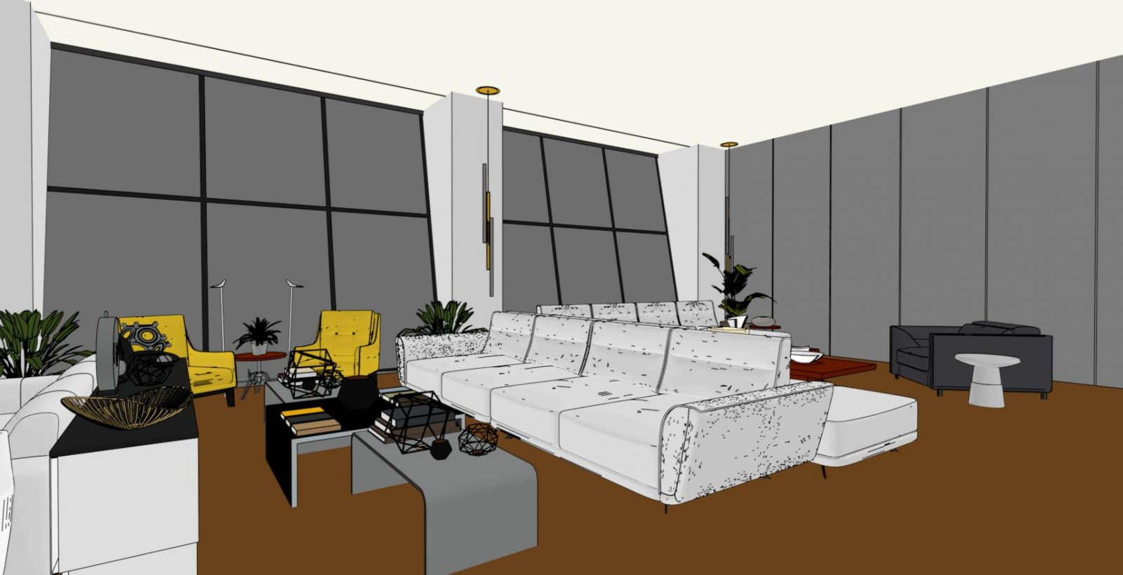 Interior Living Area - Vector Colour