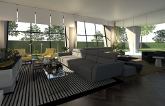 Interior Living Area - 3Ds Max ART