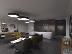 Commercial Waiting Area - Final Render