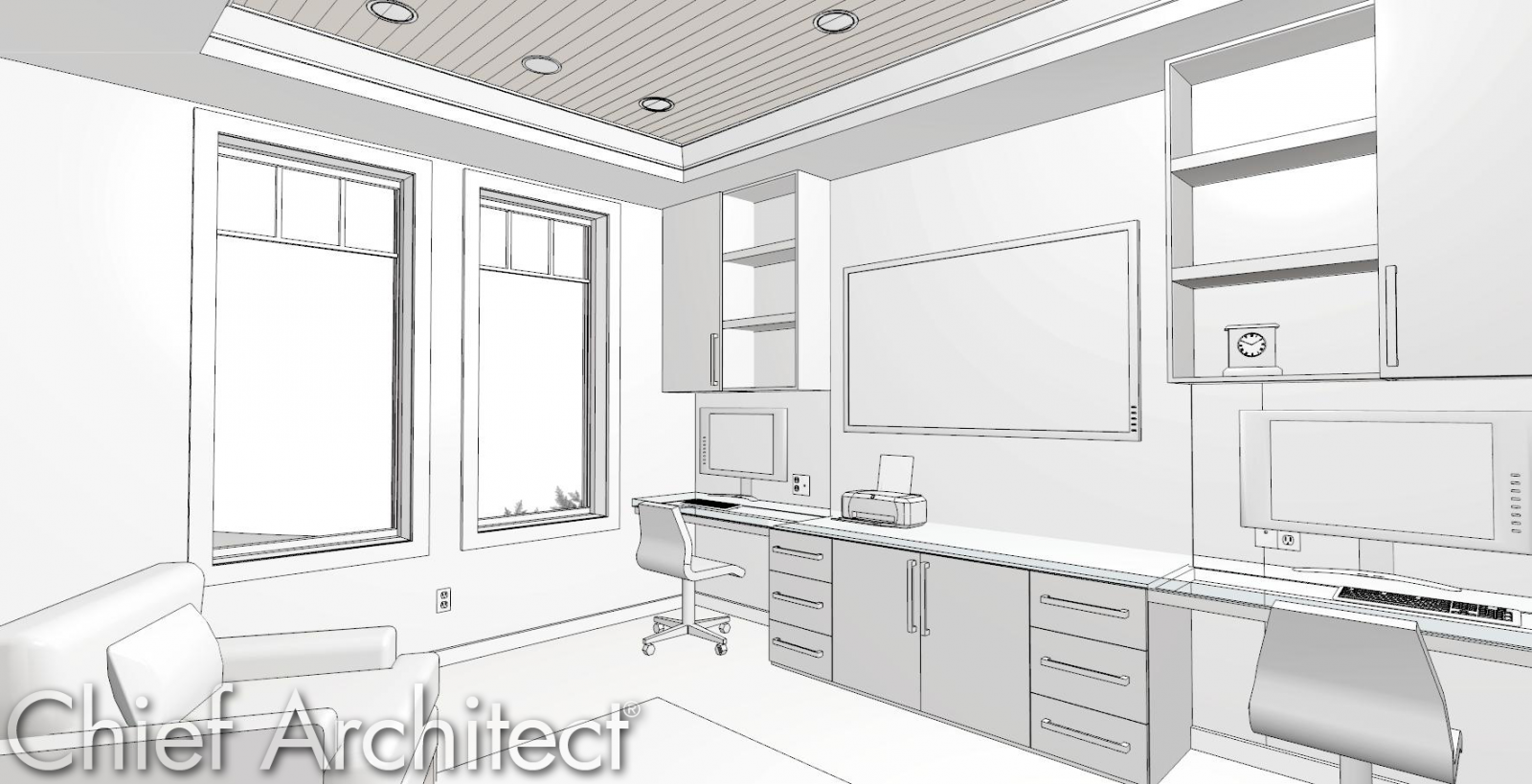 Riverstone Office Technical Illustration