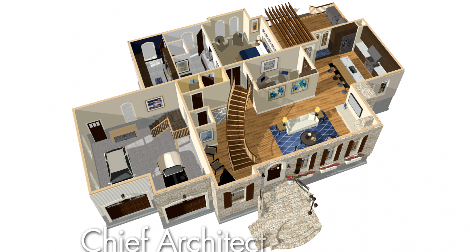 Doll House render view
