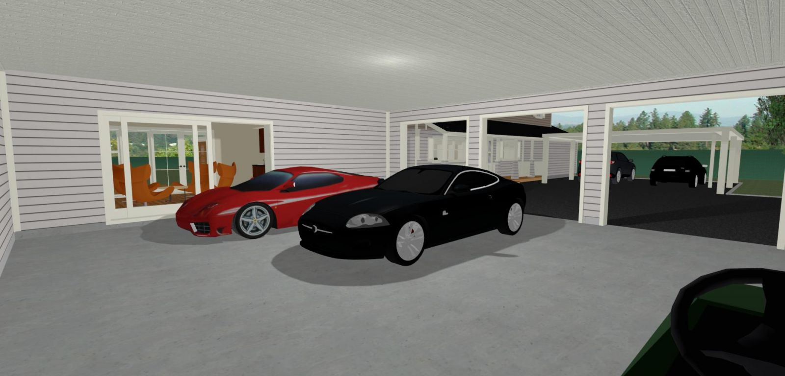 Traditional As Farm Garage