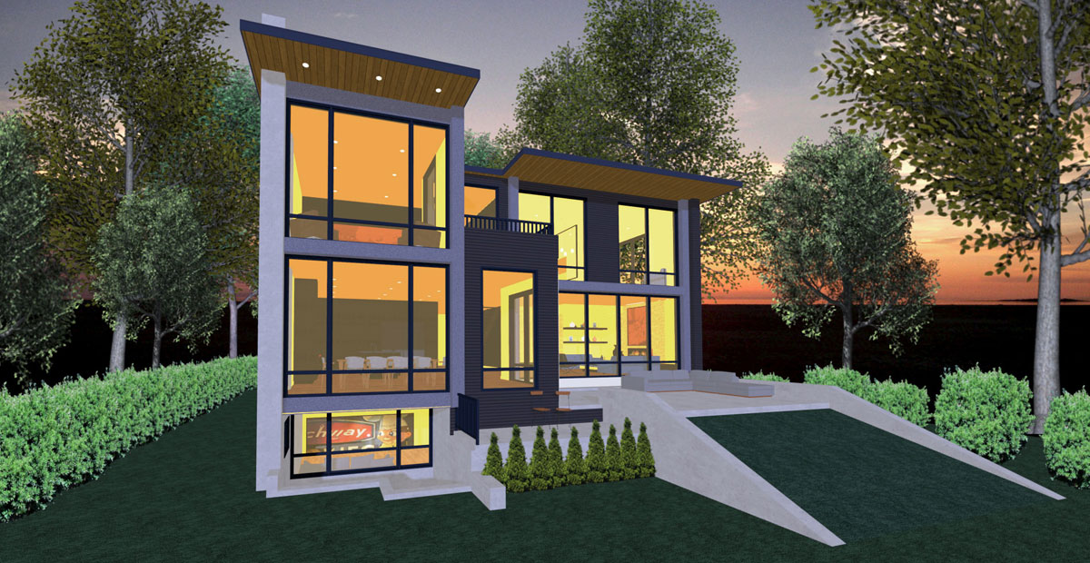 Hillside Contemporary Sample Plan