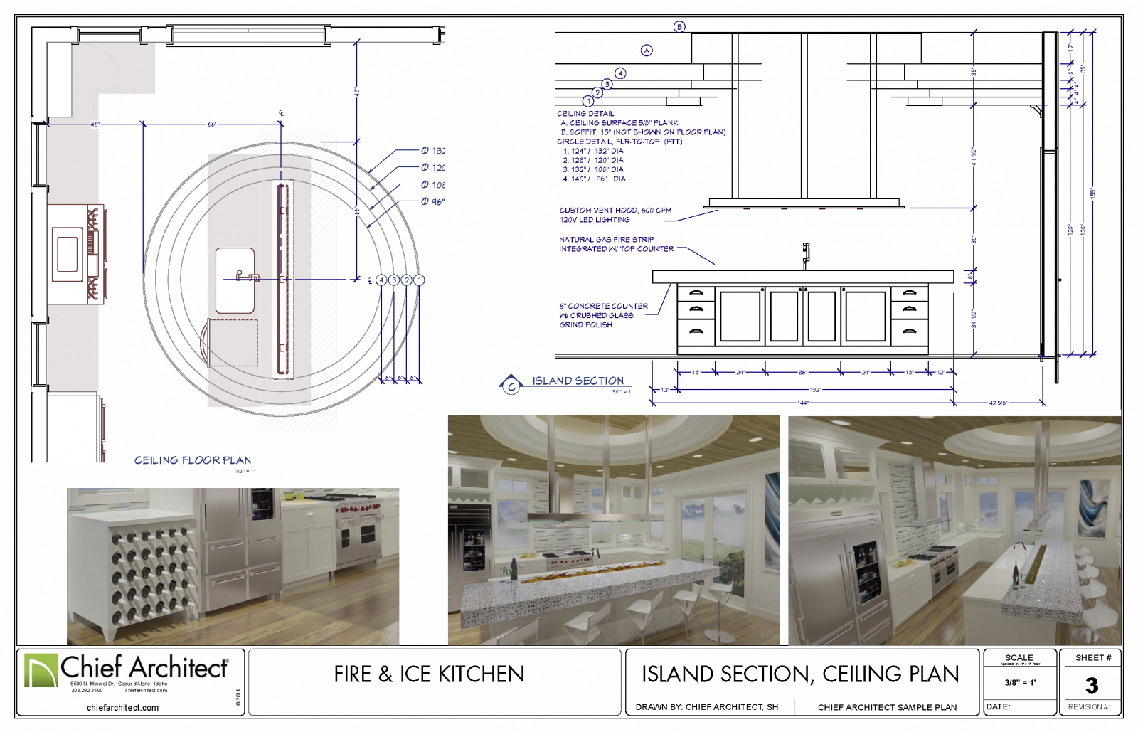 Fire & Ice  Kitchen Plan Detail