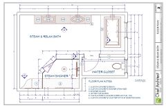 Steam & Relax Master Bath, floor plan