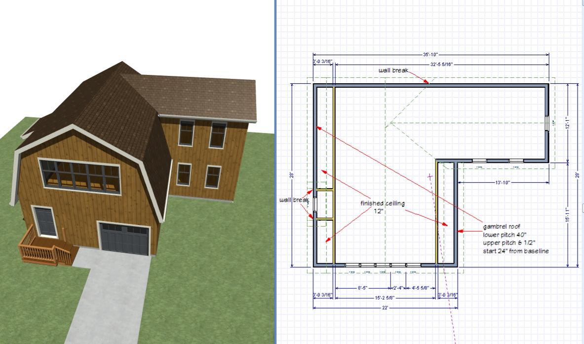 Building A 2nd Story Gable Roof Extension Off Of A Gambrel Roof Q A Hometalk Forum