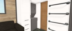 Laundry center and closet cabinets