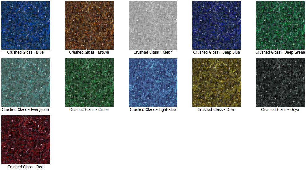 Materials Crushed Glass