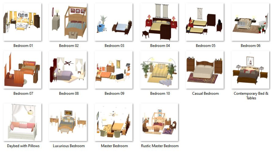 Grouped Bedrooms