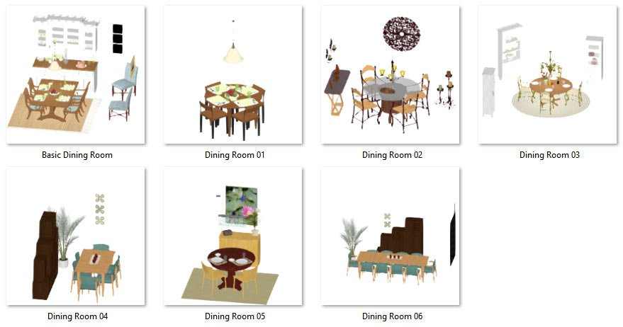 Grouped Dining Rooms