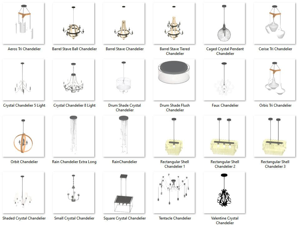 Lighting No.02 Chandeliers