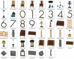 Craftsman Furniture and Accessory 3D Models