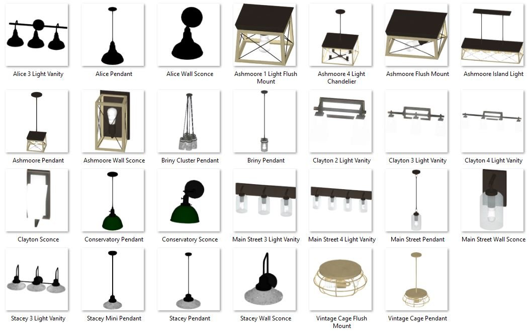 3D Lighting Objects